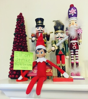 Dec 13: Simon is on strike! He will not stand for crappy behavior.